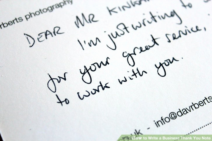 Business Thank You Notes Inspirational How to Write A Business Thank You Note with Sample Notes