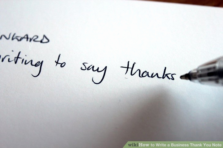 Business Thank You Notes Lovely How to Write A Business Thank You Note with Sample Notes