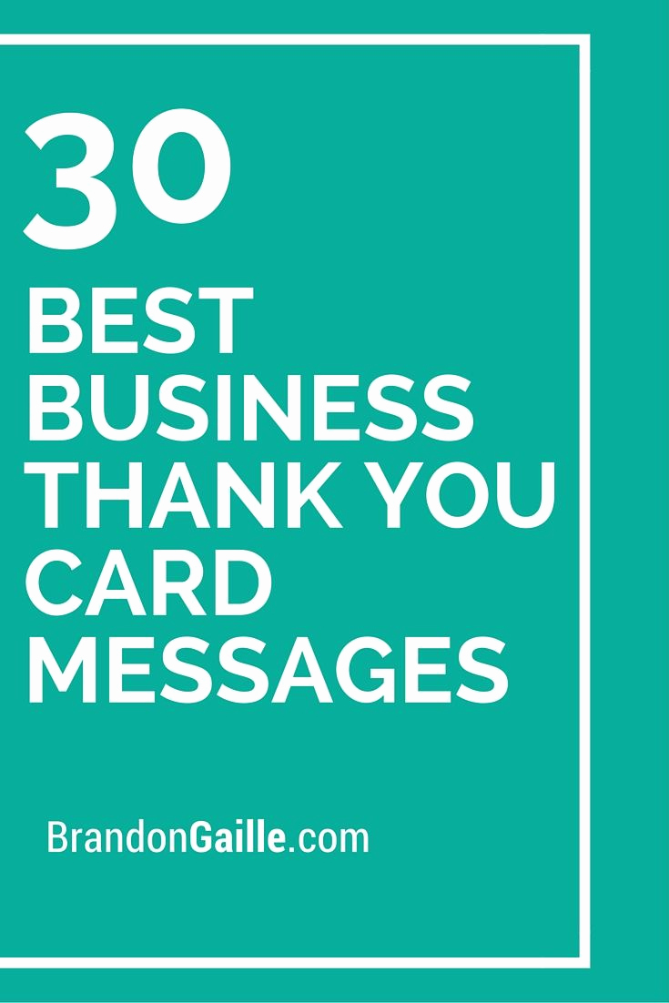 Business Thank You Notes Luxury 30 Best Business Thank You Card Messages