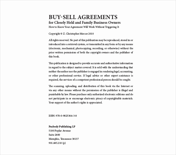 Buy Sell Agreement Template Best Of 9 Buy Sell Agreement Examples Pdf Doc