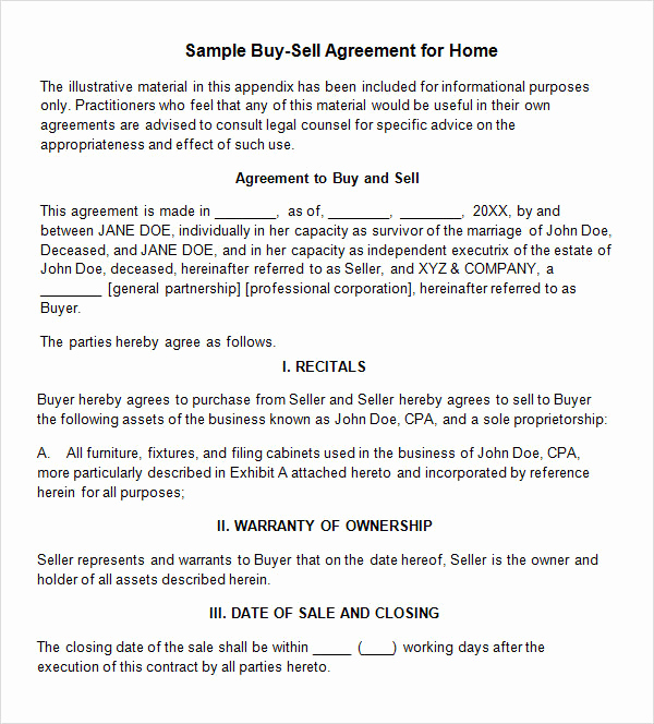 Buy Sell Agreement Template Unique 20 Sample Buy Sell Agreement Templates Word Pdf Pages