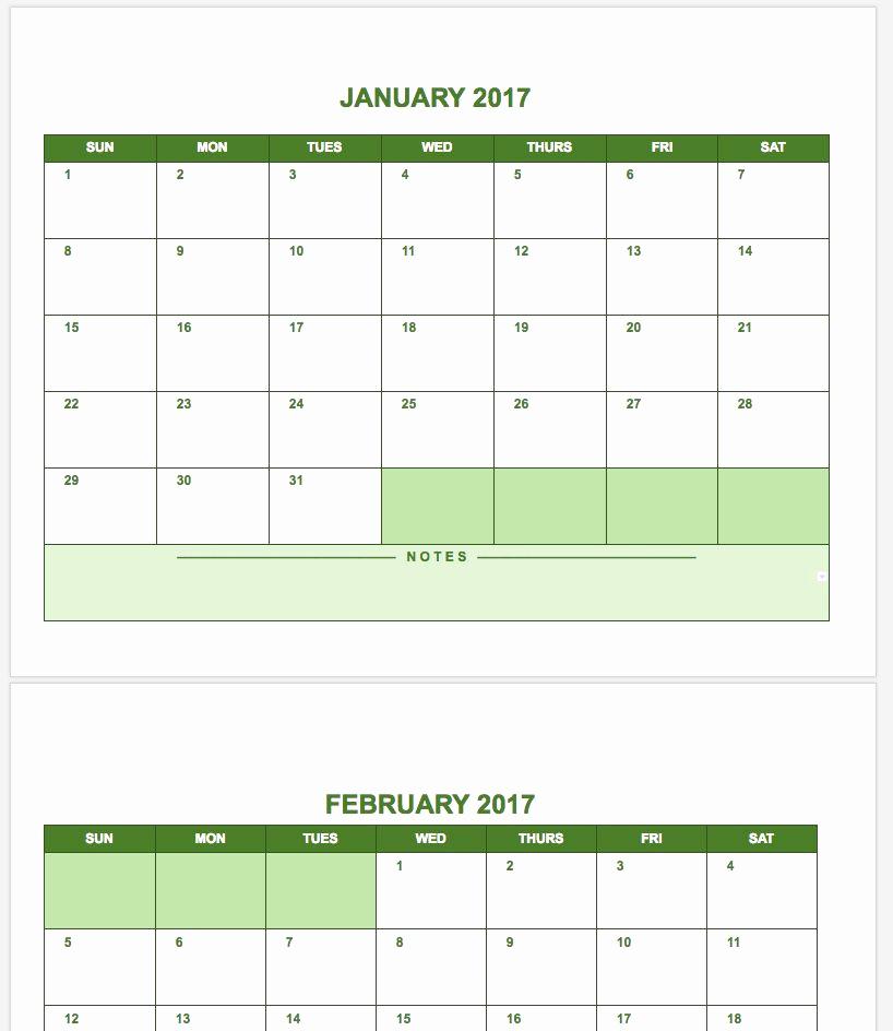 Calendar Template for Google Docs Fresh Free Google Calendar Templates