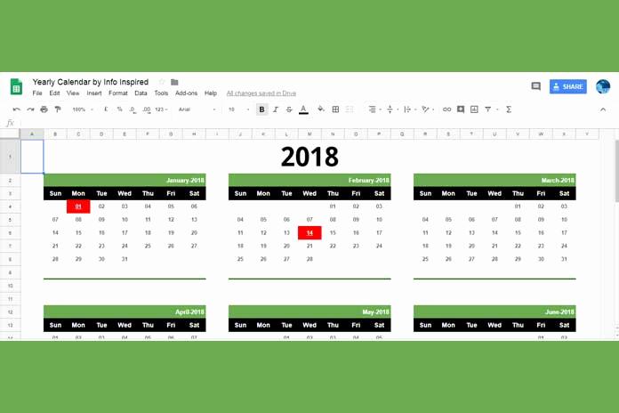 Calendar Template for Google Docs Lovely Google Sheets Calendar Template Free
