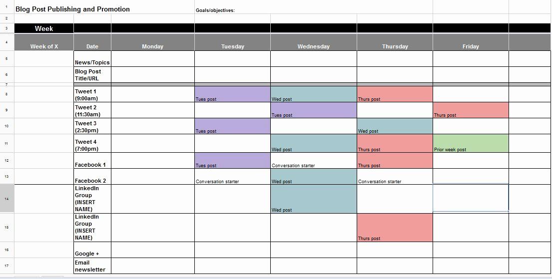 Calendar Template for Google Docs Lovely social Media Calendar Template Google Docs
