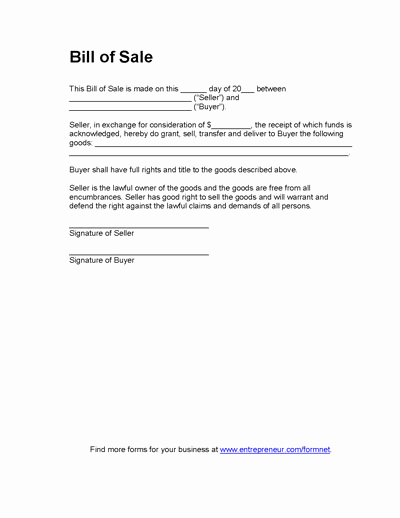 Camper Bill Of Sale Awesome Free Printable Bill Of Sale Camper form Generic