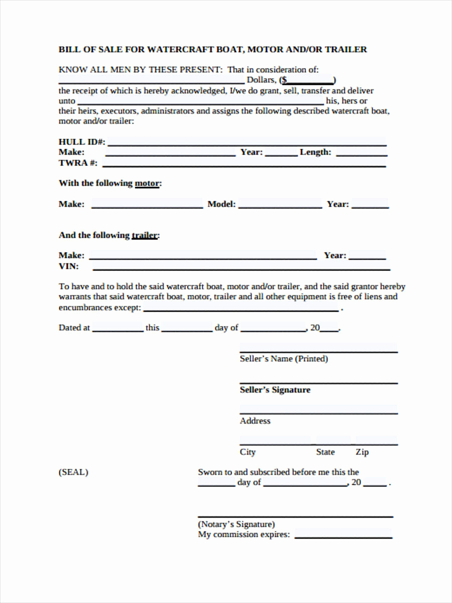 Camper Bill Of Sale Best Of 30 Sample Bill Of Sale forms