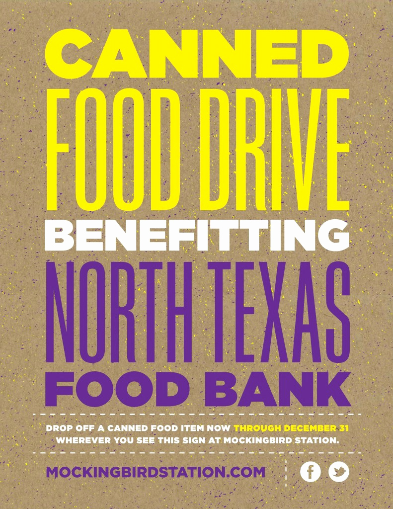 Can Food Drive Flyer Awesome Canned Food Drive at Mockingbird Station