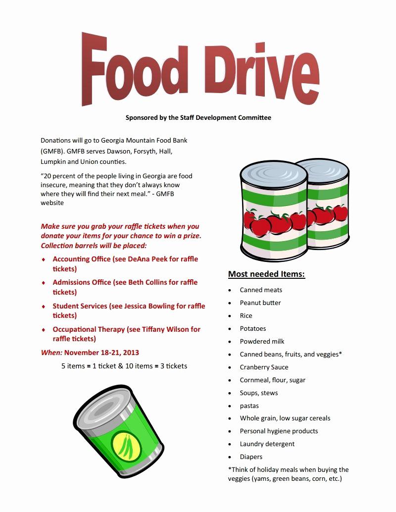 Can Food Drive Flyer Awesome Food Drive Nov 18 21 Brenau Update