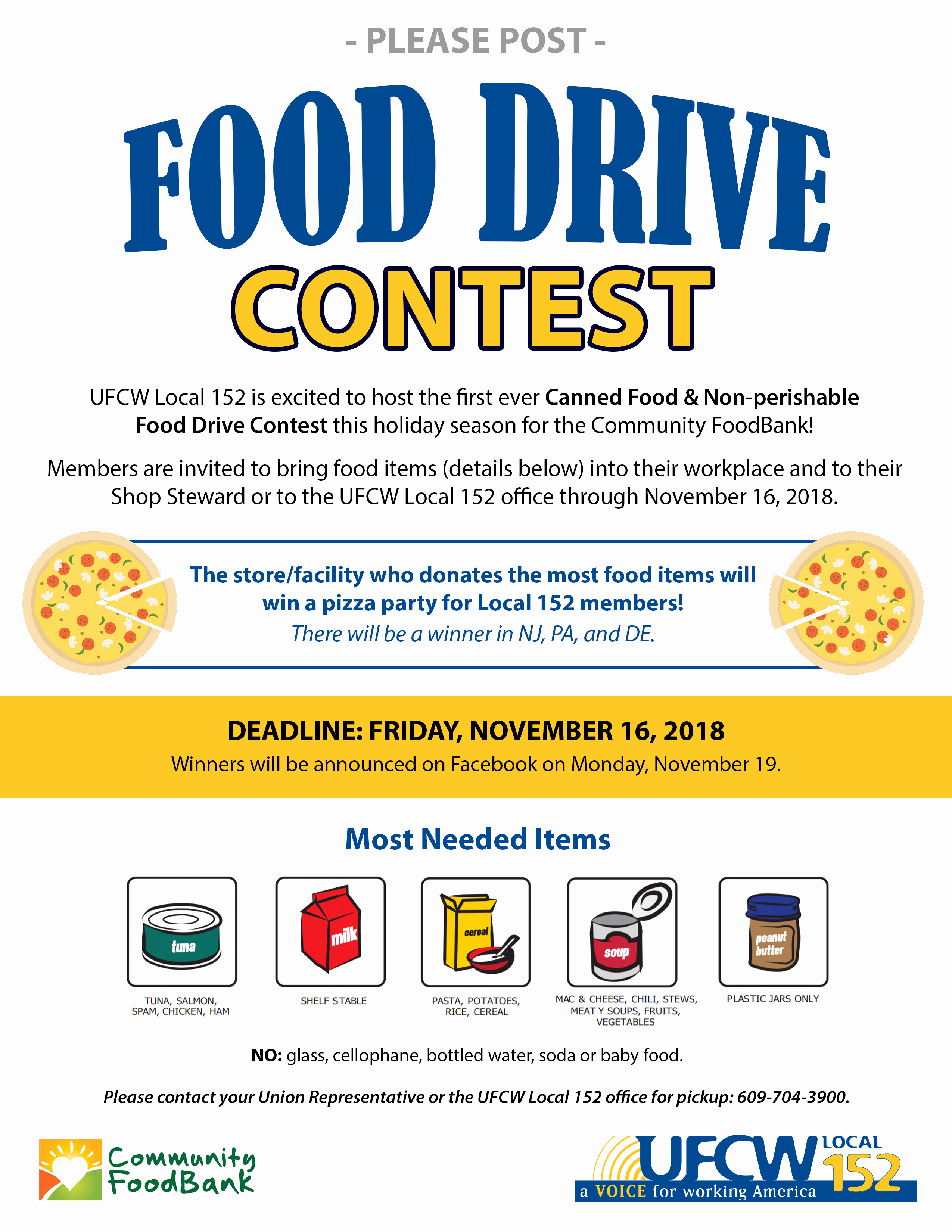 Can Food Drive Flyer Elegant Canned Food & Non Perishable Food Drive Contest Ufcw