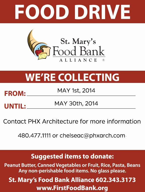 Can Food Drive Flyer Fresh events