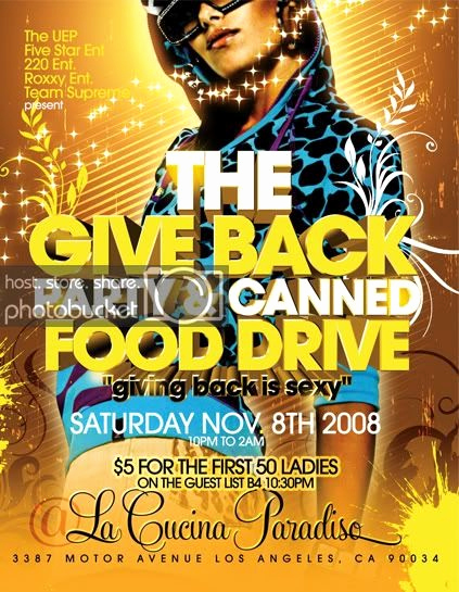 Can Food Drive Flyer Fresh Flier Shrine Give Back Party & Canned Food Drive Flyer