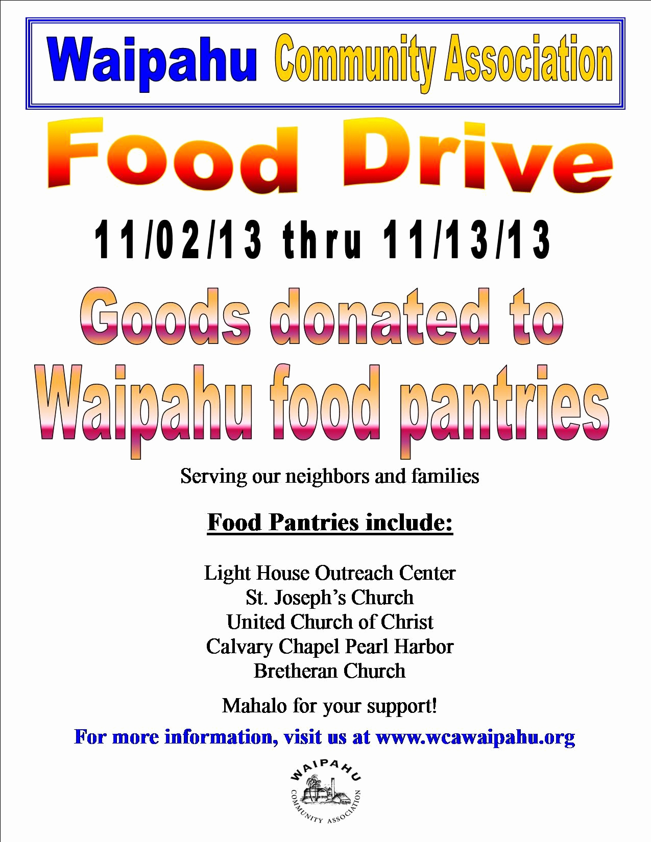Can Food Drive Flyer Fresh Food Drive – Free Drawing