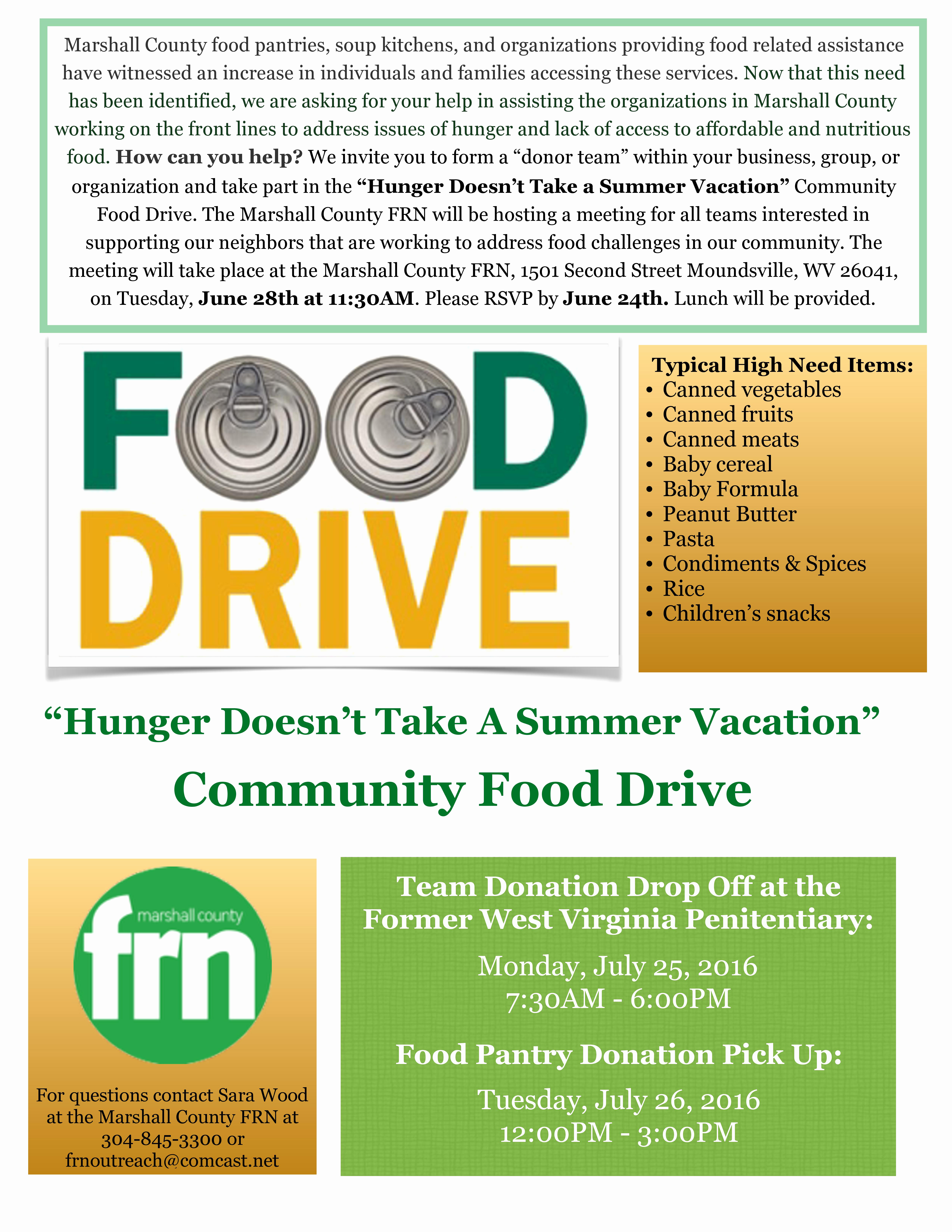 Can Food Drive Flyer Inspirational Marshall County Frn organizing Munity Food Drive