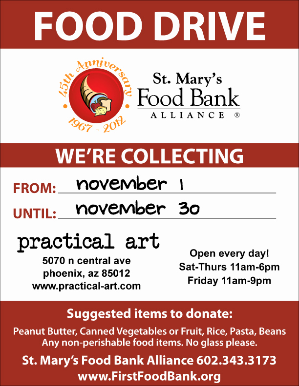 Can Food Drive Flyer Inspirational No Tax November A Food Drive for St Mary's Food Bank