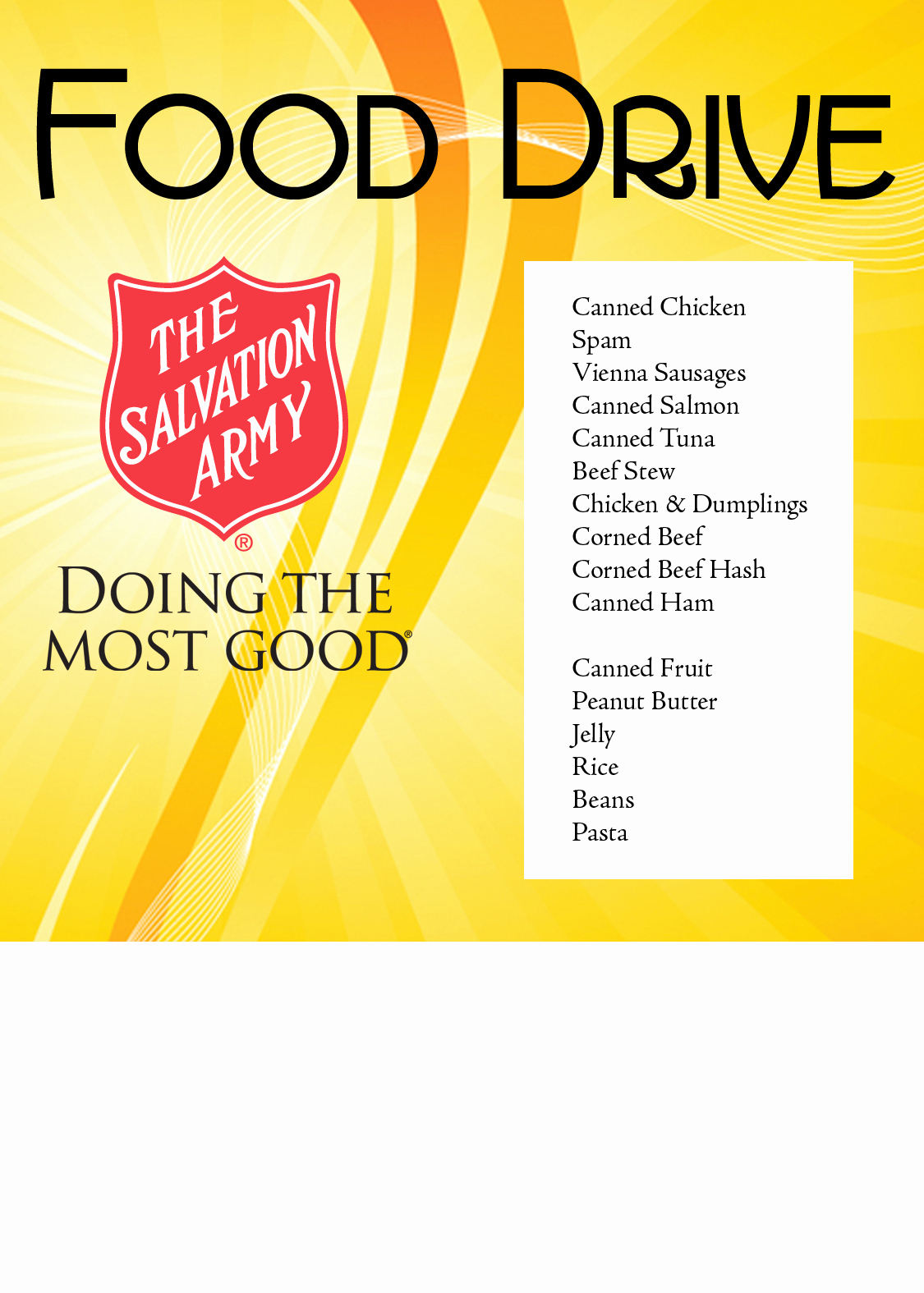 Canned Food Drive Flyer Best Of the Salvation Army – Naples Immokalee and Naples Food