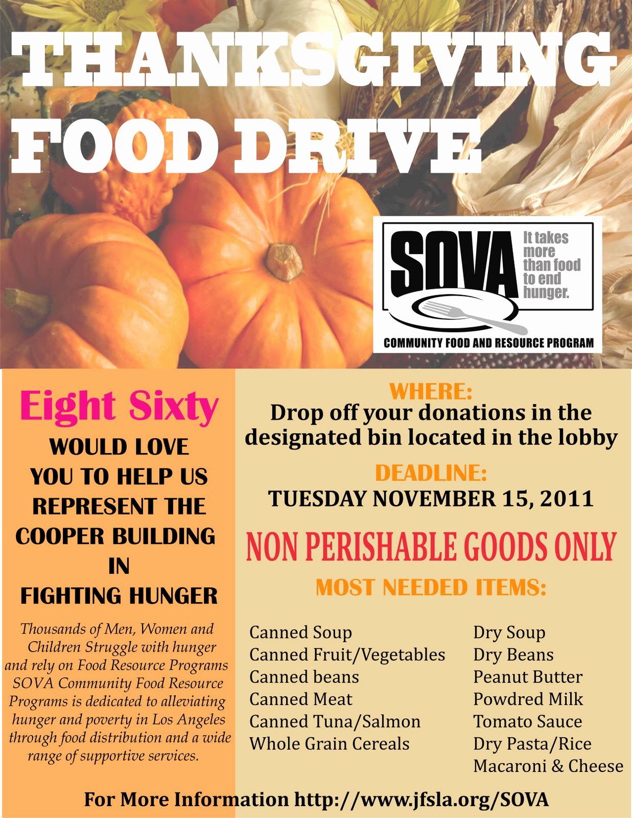 Canned Food Drive Flyer Elegant Cooper Design Space Our Annual Food Drive Has Started