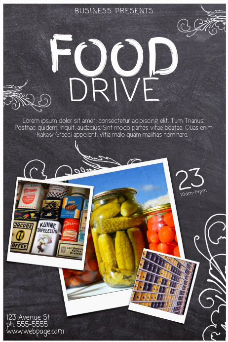 Canned Food Drive Flyer Inspirational Copy Of Food Drive Template