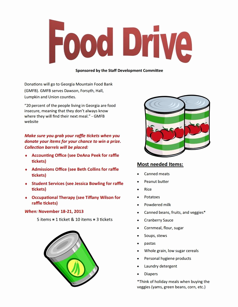 Canned Food Drive Flyer Inspirational Food Drive Nov 18 21 Brenau Update