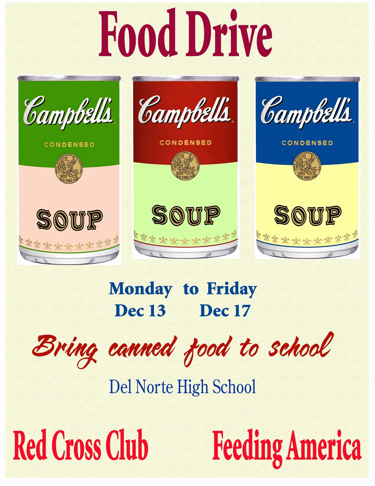 christmas food drive at del norte high