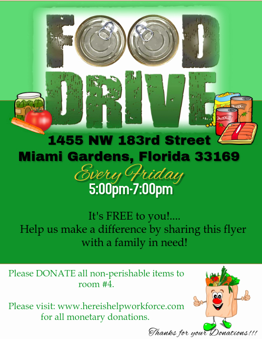 Canned Food Drive Flyer New Food Drive Flyer Template