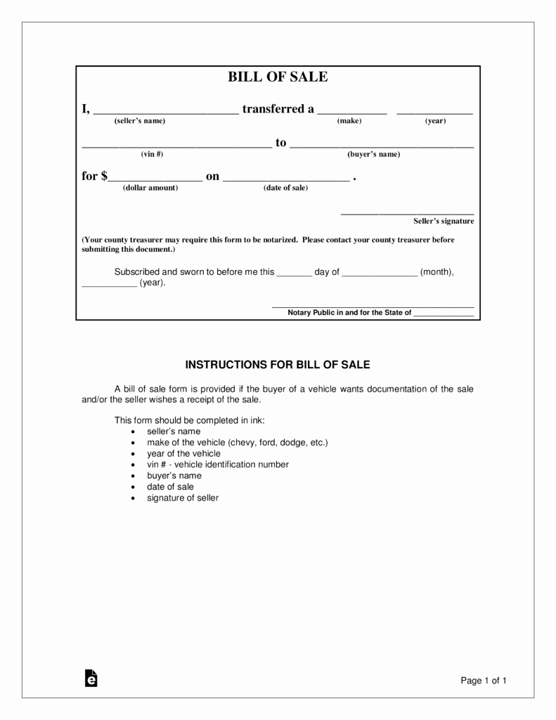 Car Bill Of Sale form New Free Iowa Bill Of Sale forms Word Pdf