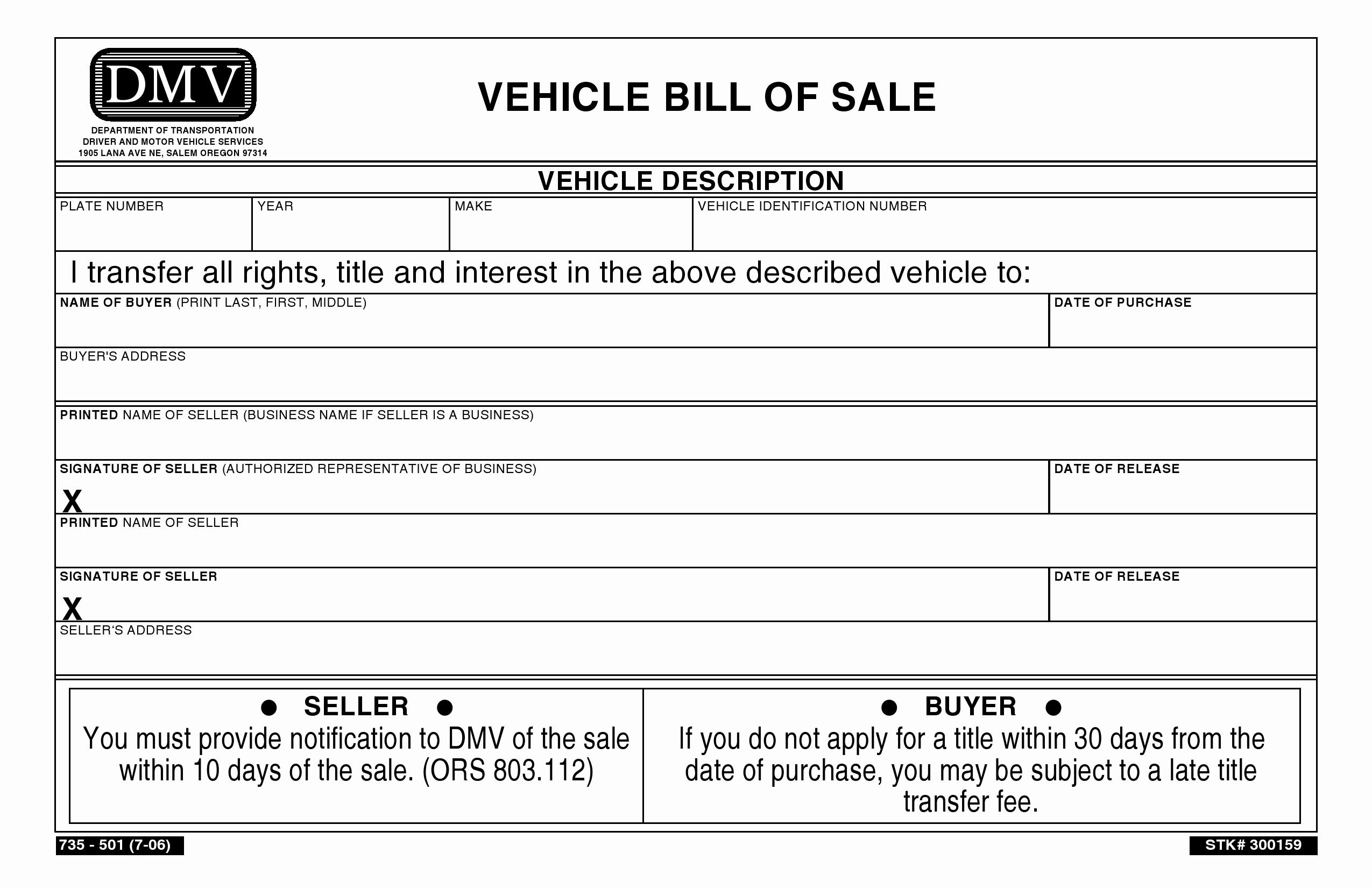 Car Bill Of Sale Pdf Beautiful Free oregon Vehicle Bill Of Sale Pdf Word