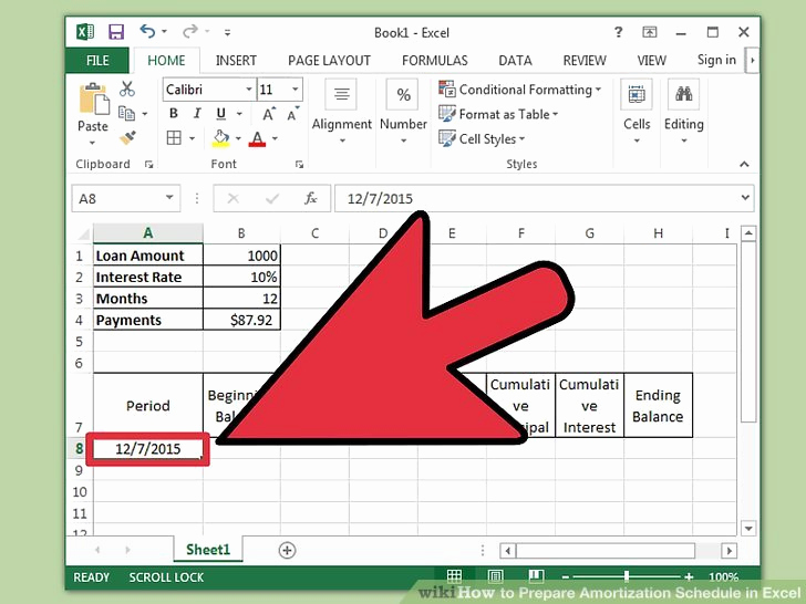 Car Loan Amortization Schedule Excel Fresh How to Prepare Amortization Schedule In Excel 10 Steps