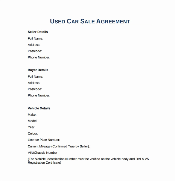 Car Sale Agreement Word Doc Beautiful Sales Agreement 17 Download Free Documents In Word Pdf