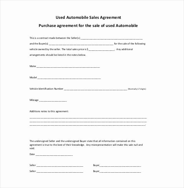 Car Sale Agreement Word Doc Elegant Sales Agreement Template 28 Word Pdf Google Docs