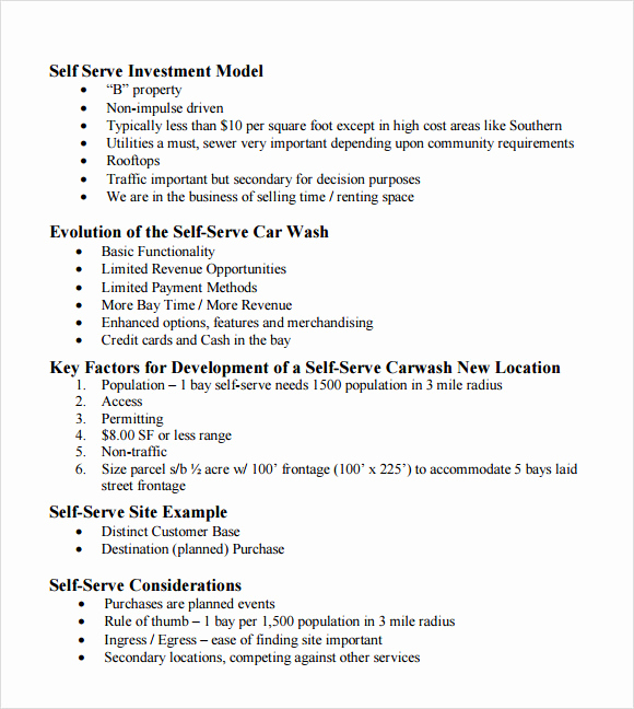Car Wash Business Plan Best Of 11 Car Wash Business Plan Templates