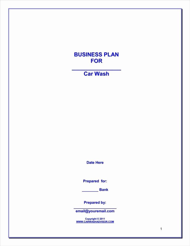 Car Wash Business Plan Fresh How to Make A Car Wash Business Plan