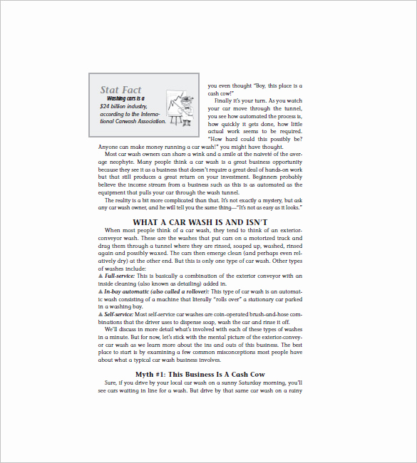 Car Wash Business Plan Inspirational 16 Car Wash Business Plan Template Free Word Excel Pdf