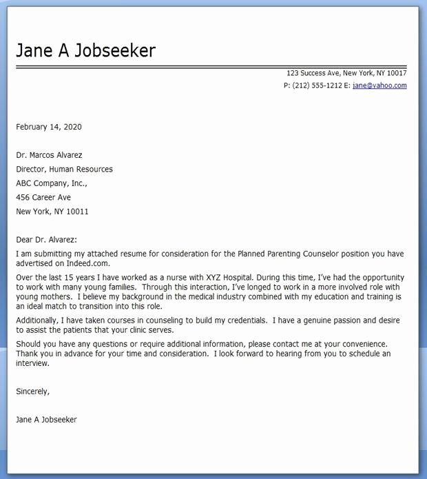 Career Change Cover Letter Sample Luxury Cover Letter Nursing Career Change