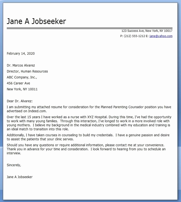 Career Change Cover Letter Samples Elegant Cover Letter Nursing Career Change