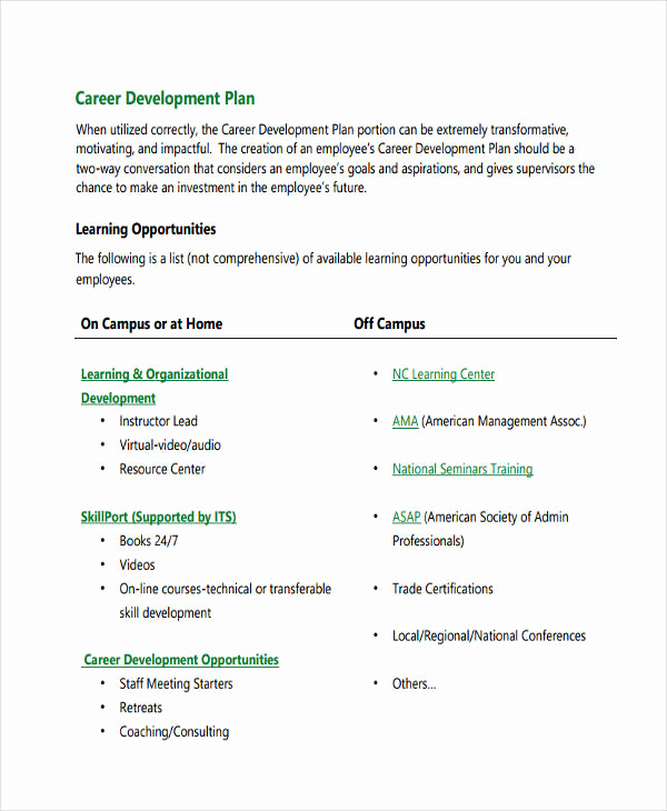 Career Development Plan Template Beautiful 58 Development Plan Examples & Samples Pdf Word Pages