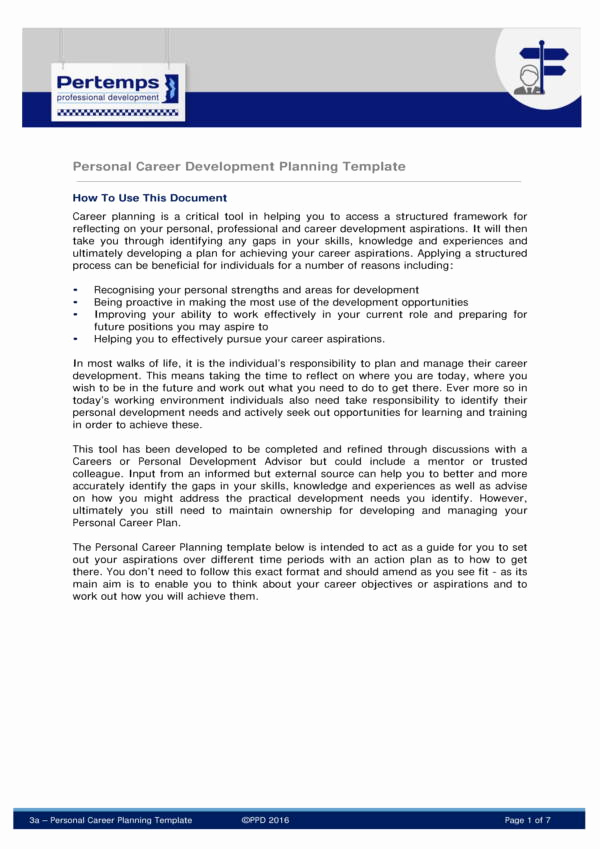 Career Development Plan Template Luxury 9 Career Development Plans Pdf