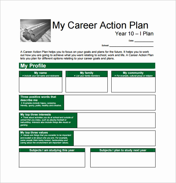 Career Development Plan Template Luxury Career Plan Template
