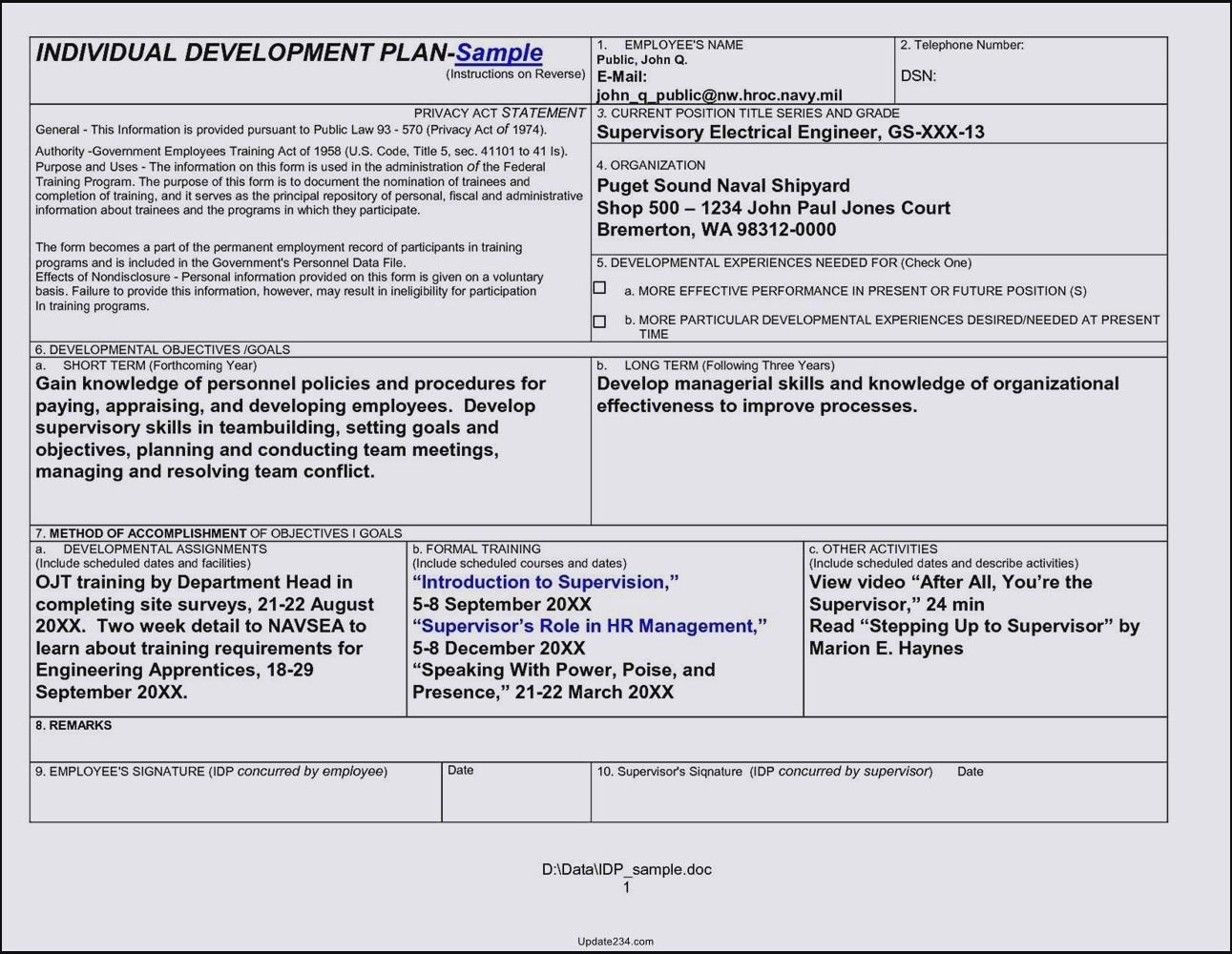 Career Development Plan Template Unique Career Development Plan Template Doc Template Update234