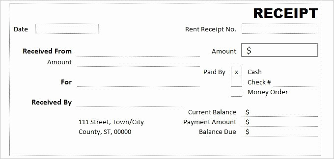 Cash Receipt Template Word Best Of Cash Receipt Template 7 Free Word Excel Documents