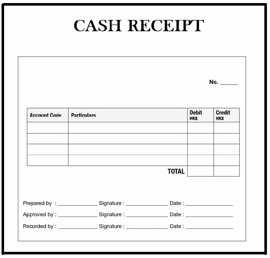 Cash Receipt Template Word Fresh Customizable Cash Receipt Template In Word Excel and Pdf