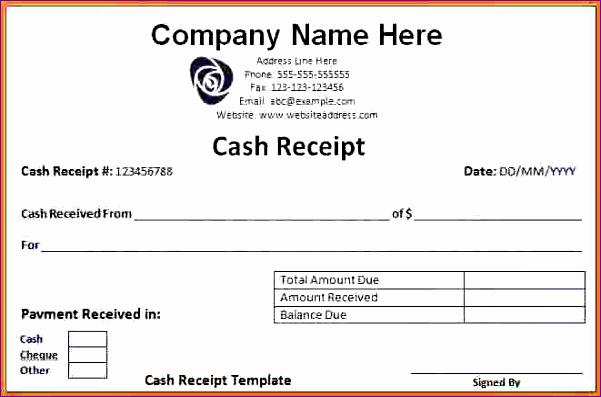 Cash Receipt Template Word Lovely 14 Receipt Templates Excel Exceltemplates Exceltemplates