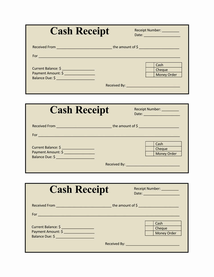 Cash Receipt Template Word Lovely 21 Free Cash Receipt Templates for Word Excel and Pdf