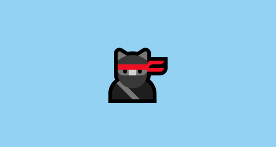 Cat Emoji Copy and Paste Elegant Ninja Cat Emoji