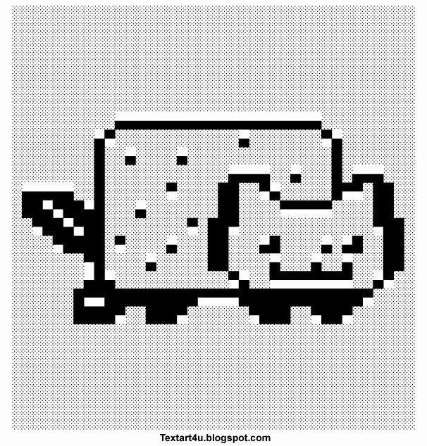 Cat Emoji Copy and Paste New Nyan Cat Pop Tart Cat Copy Paste Text Art