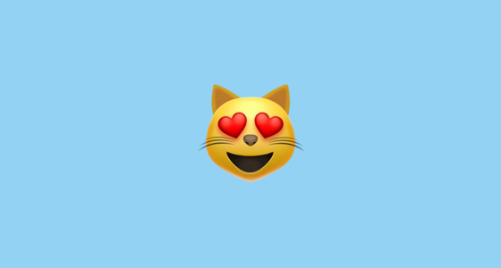 Cat Emoji Copy and Paste Unique Smiling Cat Face with Heart Shaped Eyes Emoji