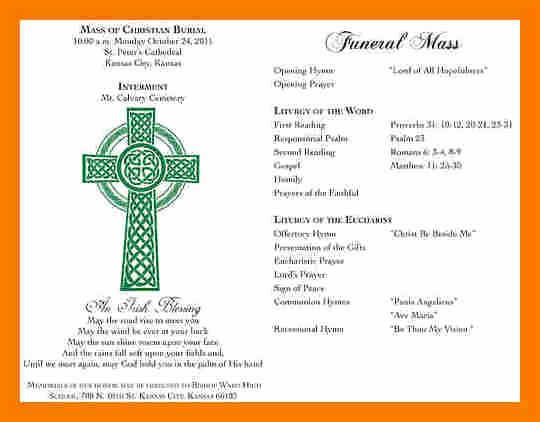 Catholic Funeral Mass Program Beautiful 5 Funeral Mass Program