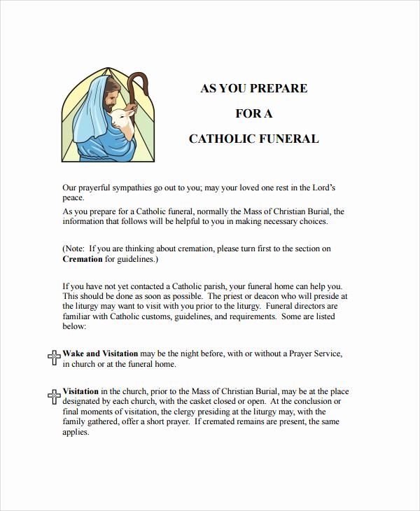 Catholic Funeral Mass Program Lovely Catholic Funeral Program