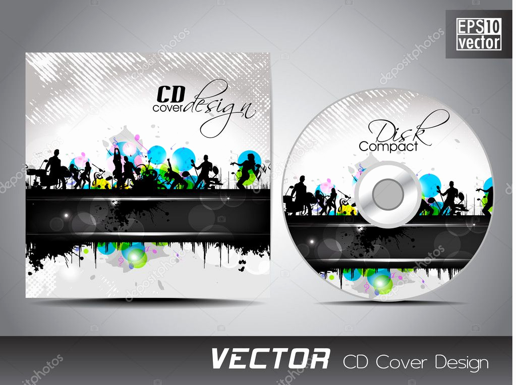 Cd Cover Design Template Awesome Cd Cover Presentation Design Template with Copy Space and