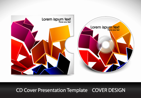 Cd Cover Design Template Awesome Cd Cover Presentation Vector Template Material 04 Vector