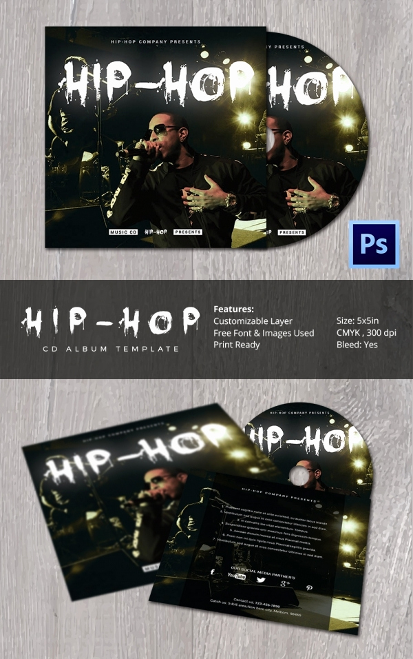 Cd Cover Design Template Awesome Cd Cover Template 51 Free Psd Eps Word format